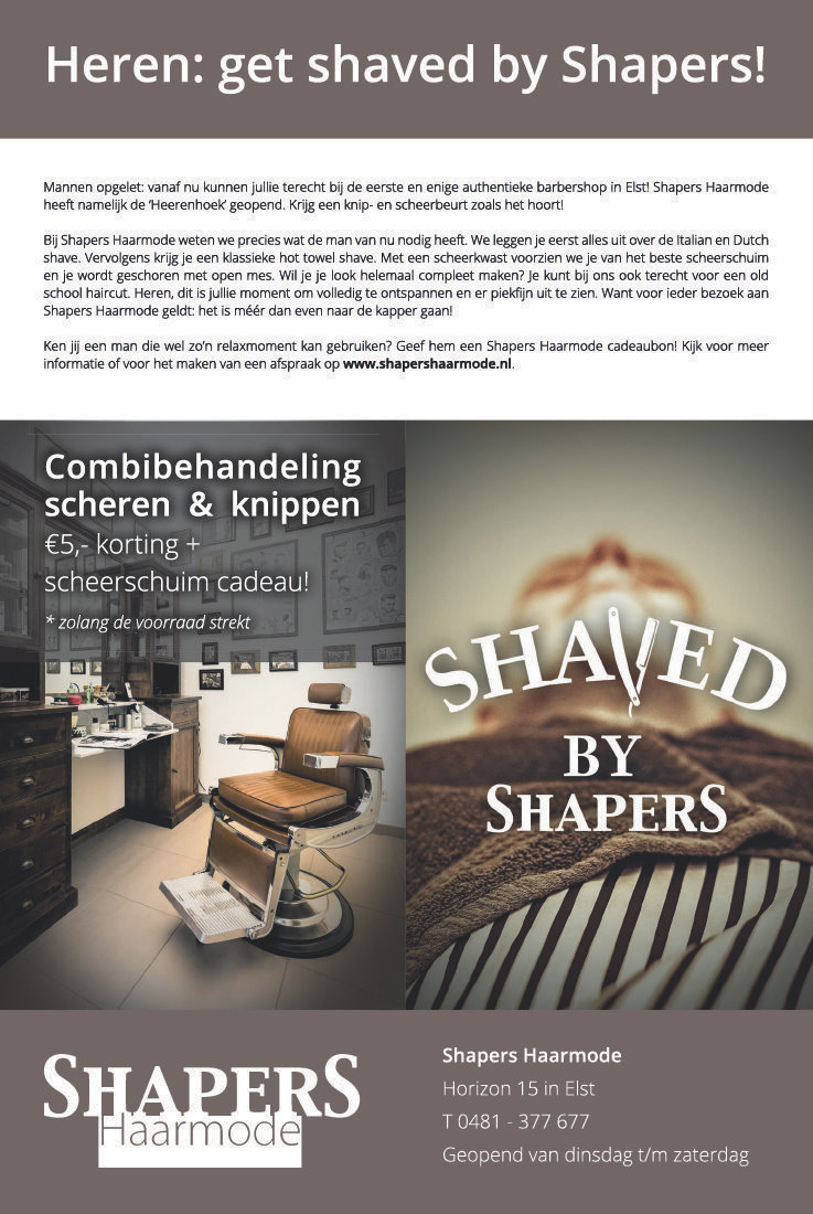 SHAVED BY SHAPERS!